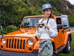 """""""CBA第一太太""""陈露近日驾驶Jeep牧马人在海边拍摄了一组时尚大片"""