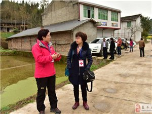 重庆市红十字会来盐考察学习项目建设工作