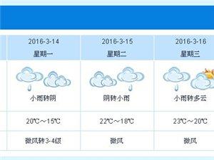茂名未来几天雨雾频繁