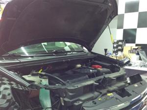 万盛车易家提供大灯升级服务,福特锐界灯光升级和升级日行灯。