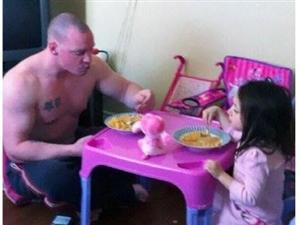 爸爸带孩子就是这么有爱,就是这么给力,父子,父女情深图片