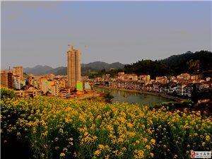 晚霞映山城