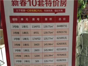 建鼎国际推出10套特价房,大产权、准现房一口价。