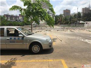 三亚金鸡岭桥头公园现雏形,沿岸新龙驾校练车场涉违建被依法拆除