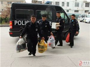 邹城市公安局特巡警大队第五中队捐赠
