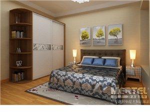 武汉定制卧室家具百叶移门衣柜禾香板衣柜个性化定制环保板材
