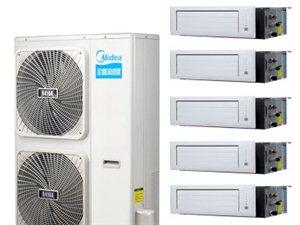 美的家用中央空调一拖六冷暖带电辅多联机TR变频系列安装辅