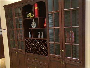 红花梨包覆玻璃门酒柜