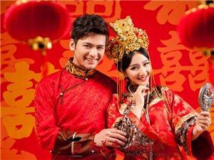 中式婚�照