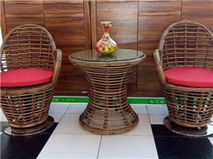 嘉园-仿竹台椅(咖啡色)