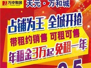天元・万和城沿街商铺可租可售,购铺享95折优惠