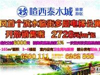 喳西泰水城,来凤首个滨水临街旅游景区中多层电梯公寓住宅房开始销售啦!