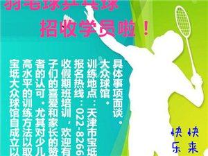 快樂暑假 健康隨行 大眾球館招收乒乓球羽毛球學員