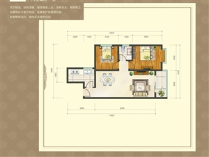 89.8平米两室两厅一卫