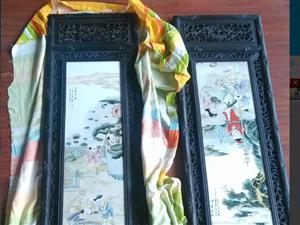 王大凡婴戏图瓷板画
