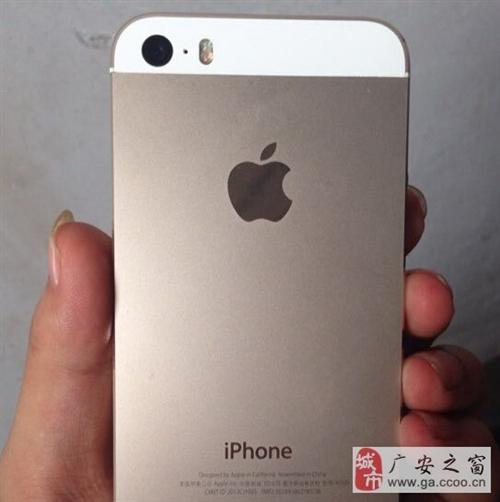 急用钱转金色苹果5S64G国行正品发票急用钱