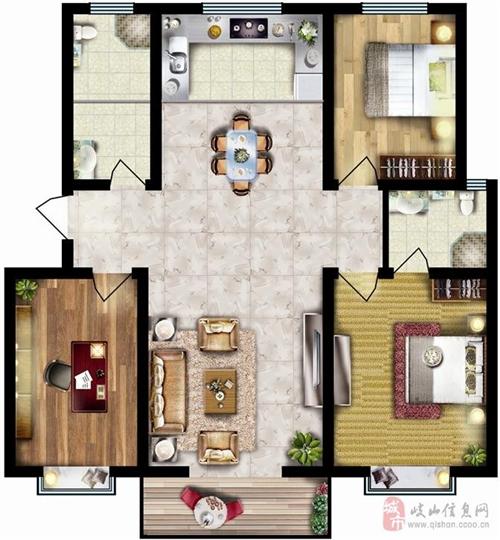 131.53㎡三室两厅两卫