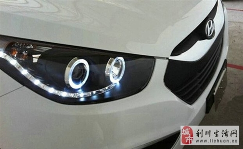 IX35的LED天使眼大灯