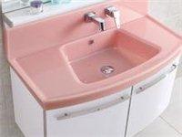洗手盆组合柜粉色