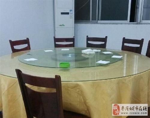 9成新饭店用大圆桌转让