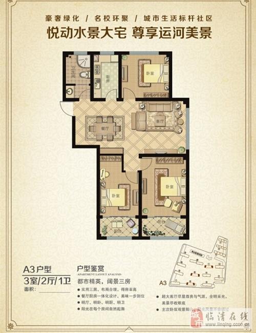 A3户型3室2厅1卫