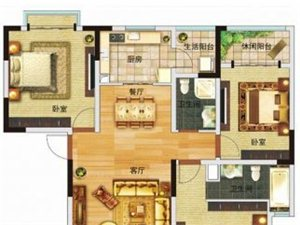高黎贡国际旅游城 三居 户型图