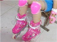 全软型溜冰鞋儿童全套装轮滑鞋直排全套可调旱冰鞋滑冰