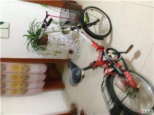 八成新的折叠式红色自行车出售