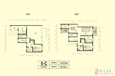 4室2厅4卫1厨;(222�O)