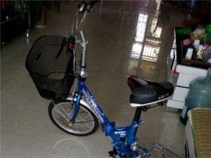刚买的凤凰折叠自行车,孩子开学去外地不用了便宜处理