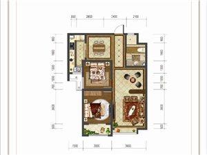 大河时代K户型 两室两厅一卫