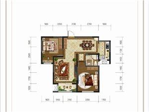 大河时代B户型 两室两厅一卫
