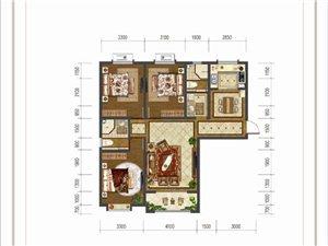 大河时代F户型 三室两厅两卫