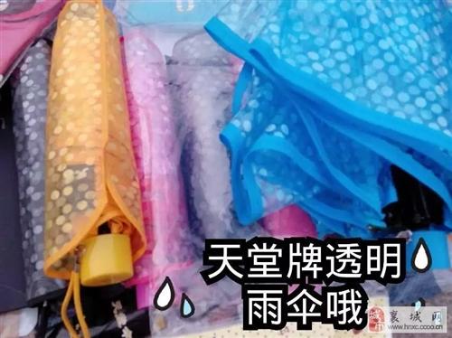 天堂彩色透明雨伞全部低价处理。