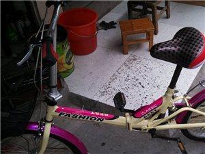 二手折叠自行车出售,车买了没怎么骑