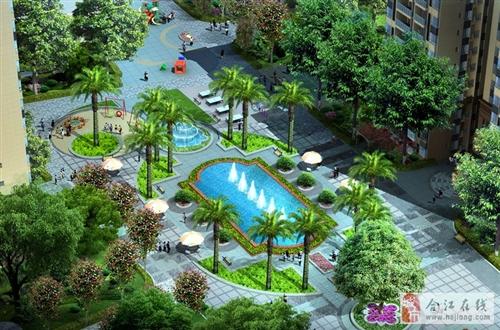 图片说明:A区中庭景观
