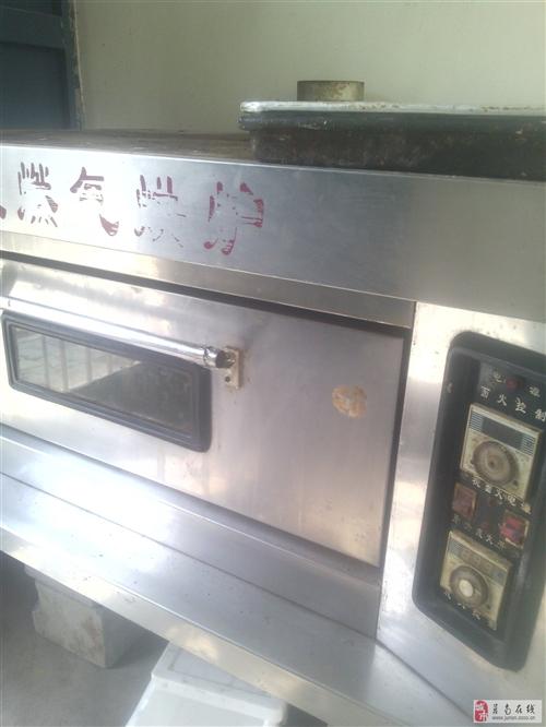 急售單層雙盤燃氣烤箱,15公斤和面機