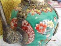 家传银包瓷壶