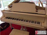 二手价格甩买全新白色168三角钢琴