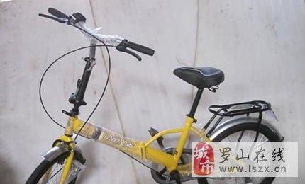 9层新的黄色方便方捷折叠自行车