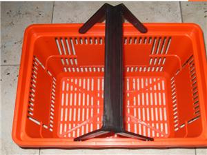 天津超市購物籃手提藍拉桿式購物籃天津正豪貨架廠