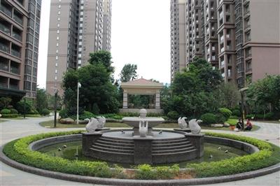 一期中庭景观-喷泉