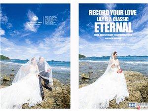 千赢国际娱乐qy88百合经典婚纱摄影清新夏威夷婚纱照主题套系
