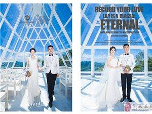 千赢国际娱乐qy88百合经典婚纱摄影滨海礼堂婚纱照主题套系