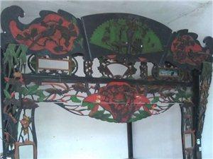 出售一套保存完好精美的古式大花床