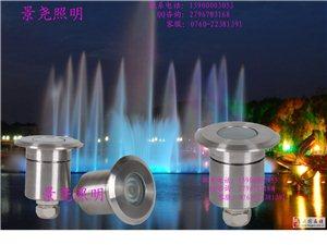 圓形七彩防水LED水下燈 景堯照明戶外亮化工程燈