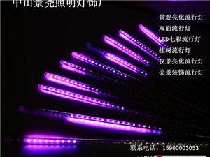 雙面單色高掛亮化LED流星燈管七彩戶外專用燈管