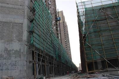 11月二期小区店铺工程进度
