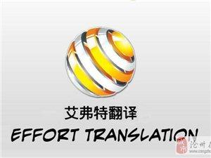 沧州艾弗特翻译提供英语,日语及其他小语种翻译服务