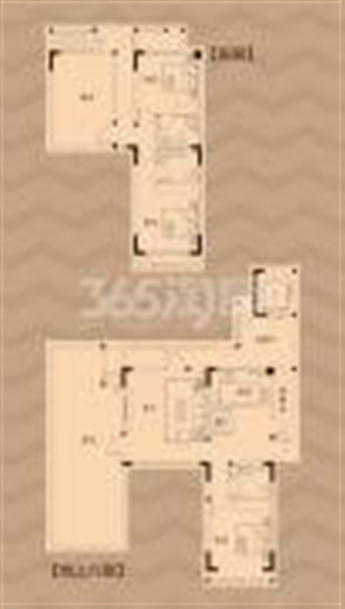 荣盛鹭岛荣府155㎡户型图